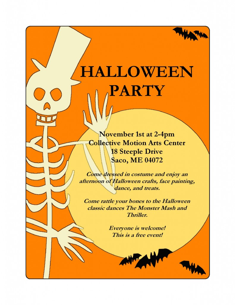 Halloween party flyer CMAC